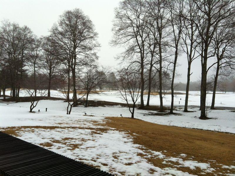 冬のゴルフ場