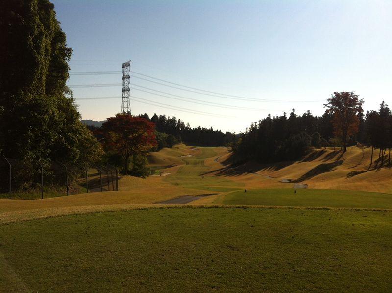 秋晴れのゴルフ