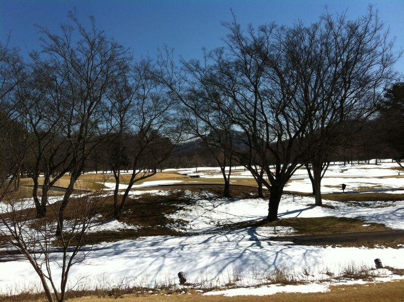 3月のゴルフ場